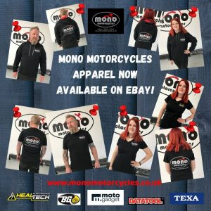 mono motorcycles apparel now available on Ebay! Search 'mono motorcycles hoodie' or 'mono motorcycles t-shirts' on Ebay, click on your size, pay for your goods & we will post your apparel out to you. Happy shopping!