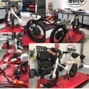 On Thursday Daniel began the Honda eCUB build, our first electric motorcycle build.