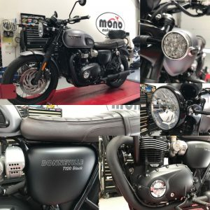 In the afternoon, we were joined by Triumph T120 for a brake fluid change, throttle balance & service light reset.