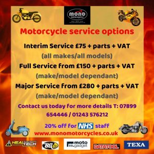 Motorcycles servicing from mono motorcycles