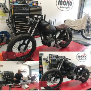 On Wednesday we welcomed back our customers Honda CM125 Cafe Racer.