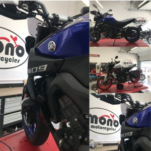 We also welcomed two Yamaha MT09's to the mono motorcycles workshop.