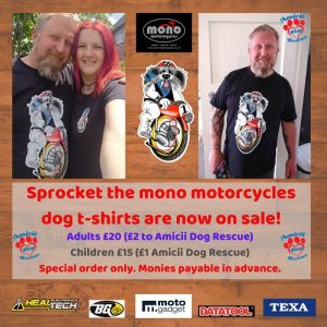 Our Sprocket the mono motorcycles t-shirts are now available to purchase.