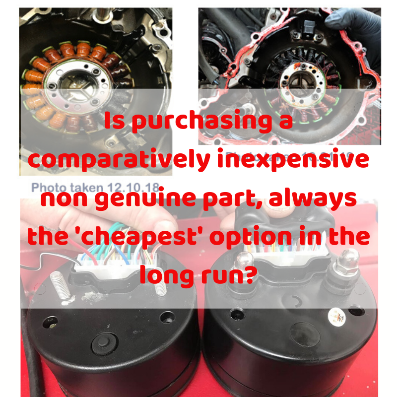Is purchasing a comparatively inexpensive non genuine part, always the 'cheapest' option in the long run?