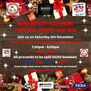 Mono motorcycles online Christmas Charity Quiz 2020