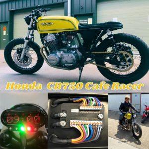 Honda CB750 Custom Cafe Racer motogadget wiring